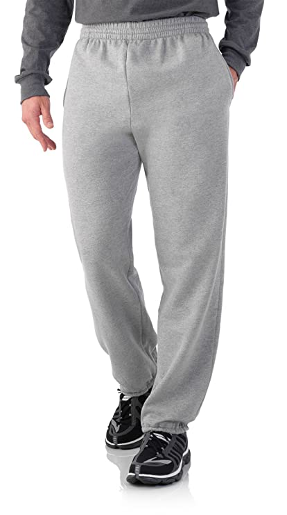 Fruit of the Loom Mens Elastic Bottom Sweatpant - Steel Grey Heather (X-Large (Waist 40-42)) best men's sweatpants