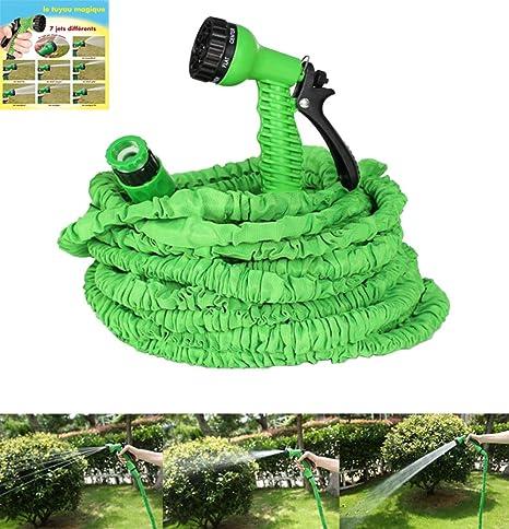 Nbd Tubo Da Giardinaggio Estensibile Tubo Irrigazione 100 Feet 30m Giardino Tubo Dell Acqua Con 7 Modalita Di Pistola A Spruzzo