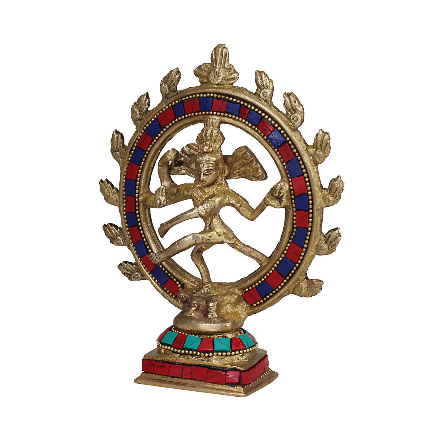 PINK-LOTUS Brass Statue Idol of Lord Dancing God Shiva Natraj ...