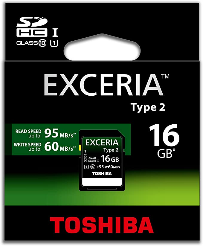Toshiba Exceria 16gb Type 2 Sdhc Memory Card Computers Accessories