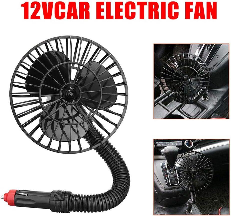 Ajboy 12 V Mini Ventilador de Coche Ajustable Auto enfriamiento ...