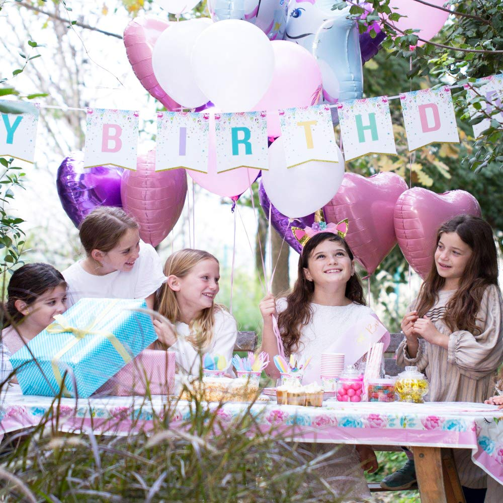 Unicorn Party Supplies set - 238 PCS - 18 Serves | Unicorn Decoration | Tableware | Favors | Balloons | Free Bonus by Nulla (Image #4)