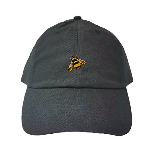 Amazon.com  Go All Out Adjustable Black Adult Bumble Bee Embroidered ... af9672fea9f