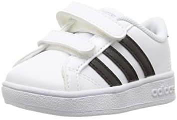 sale retailer ea20b 3c8dd Image Unavailable. Image not available for. Colour  adidas neo Boy s  Baseline CMF Inf Black White Suede ...