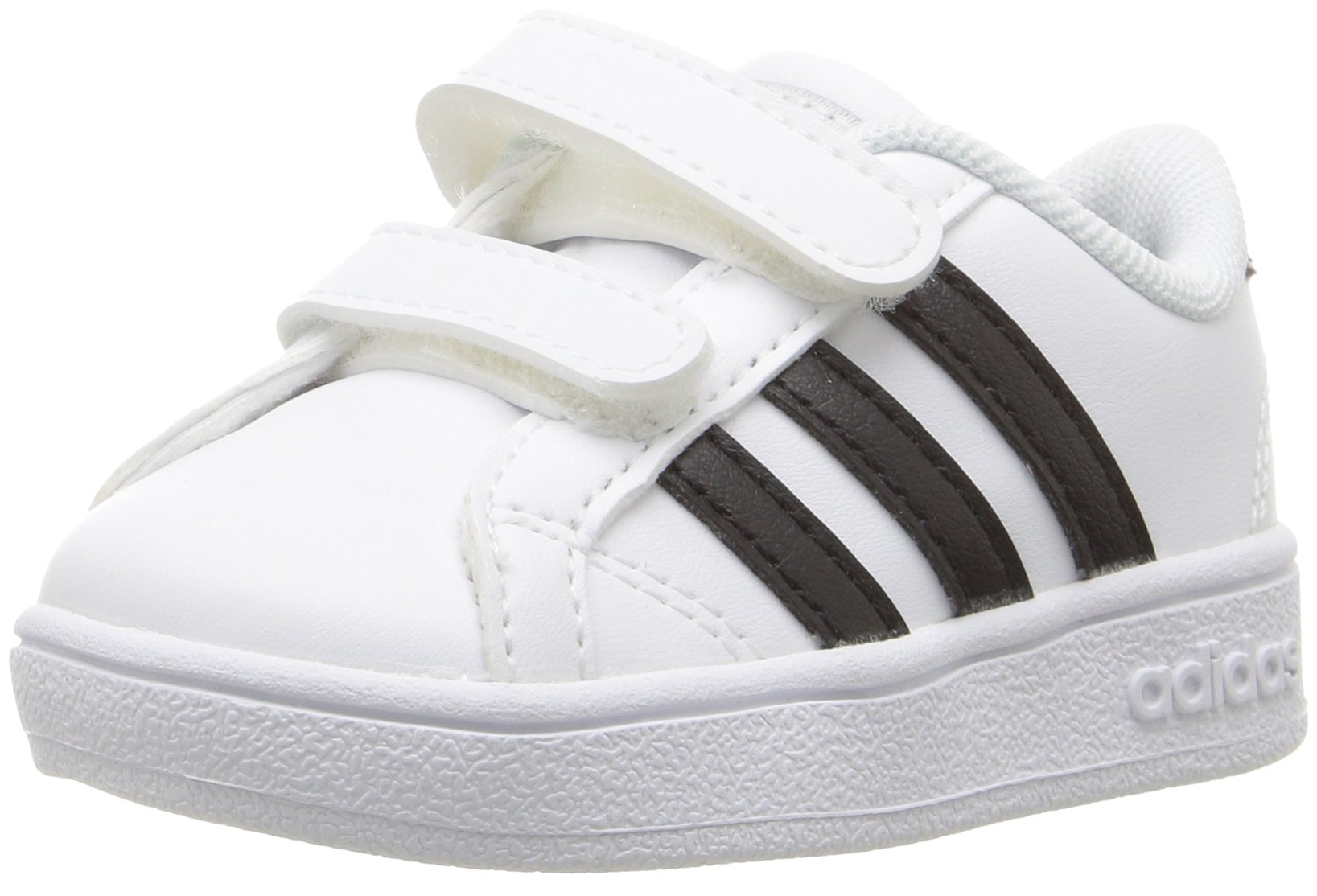 adidas Performance Baby Baseline Sneaker, White/Black/White, 6.5K M US Toddler by adidas (Image #1)