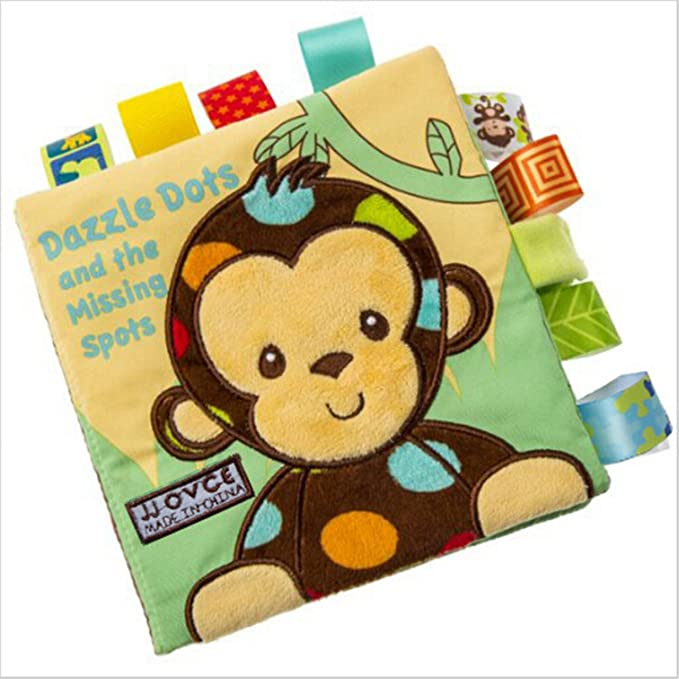 Yinew Stoffbuch Babybuch,Fr/üh Lernen Lernspielzeug Baumwolle weichen Tuch Buch
