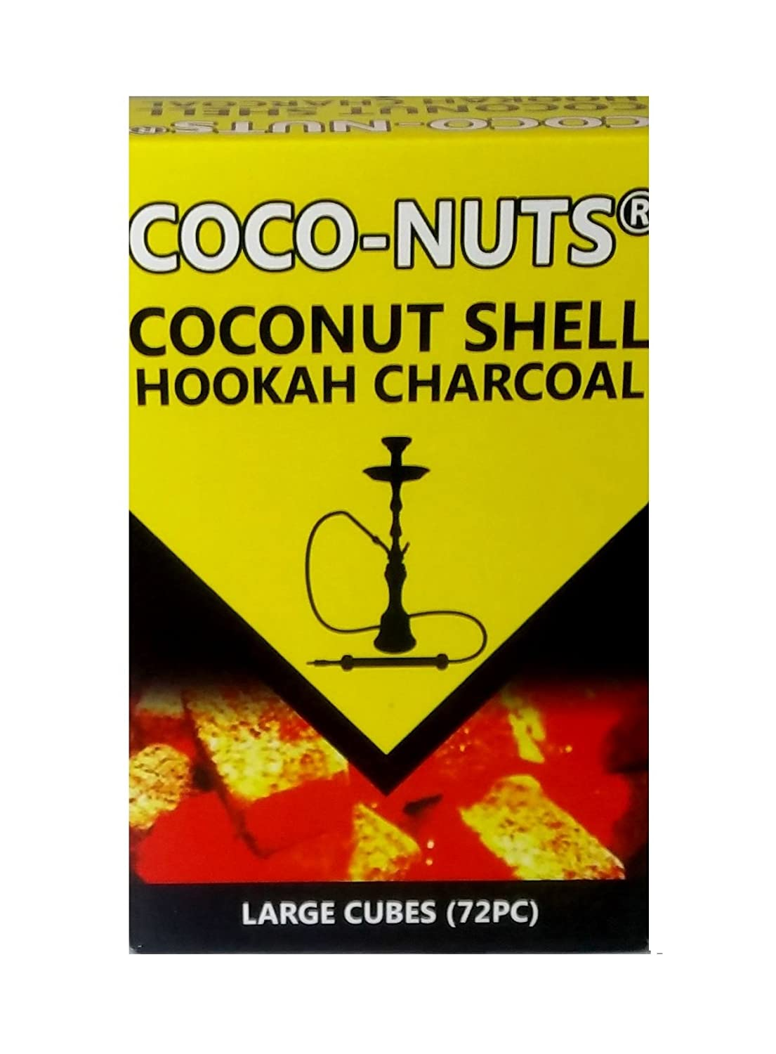 Zebra smoke :Cube Coconut Shell Hookah Charcoal 72 PCS (2pack)