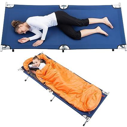 skandika Quemador Cama XXL Cómodo Camping Camilla 210 x 80 cm