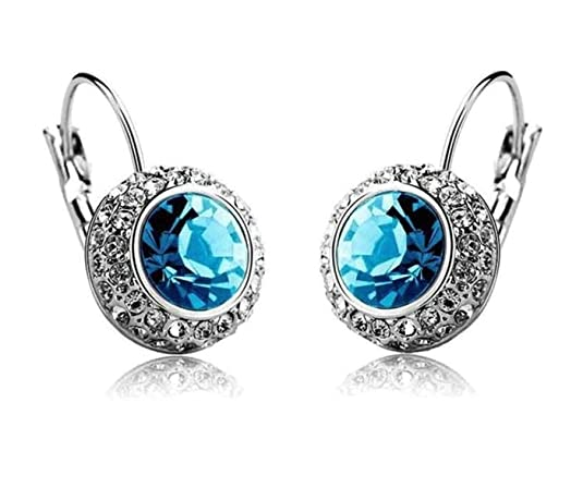 Crunchy Fashion Austrain Crystal Clip on Earring For Women Earrings at amazon