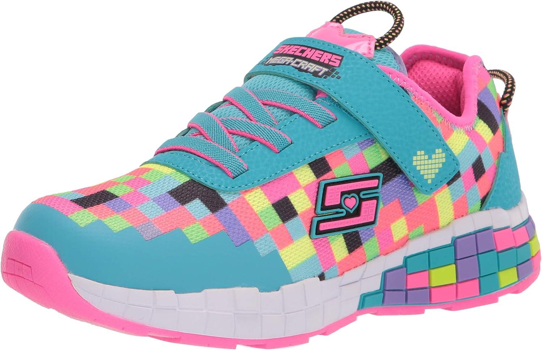 Skechers Kids Light Weight, Pixel, Girls Gaming Sport Shoe Sneaker