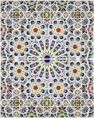 Mattullah Bemalte Marokkanische Fliesen Amazonde Baumarkt - Fliesen bemalen farbe