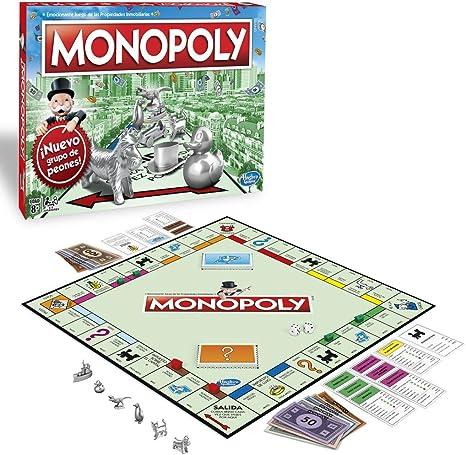 Monopoly - Clásico, Edad recomendada: a partir de 8 años (Hasbro C1009105): Amazon.es: Juguetes y juegos