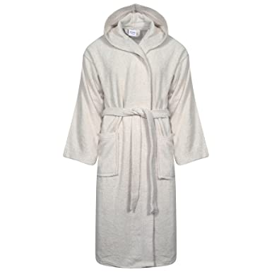 Unisex 100% Egyption Cotton Bath Super Soft Veloue Towel Bath Robe Hooded Dressing  Gown Mens dc6f00ca8
