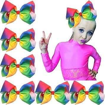 Boutique Huge Big Rainbow Hair Bows 20cm High Quality Handmade