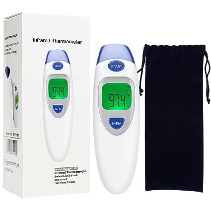 Termómetro Digital de Frente Frontal y Oido Infrarrojo para bebés, niños, adultos y objetos