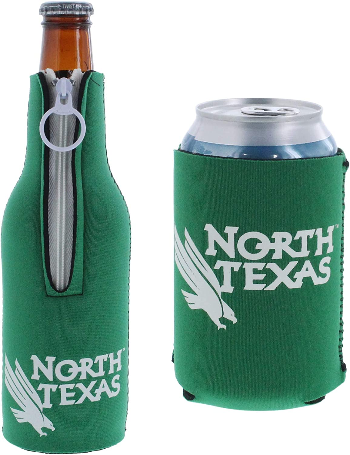 NCAA College Team Color Logo Can & Bottle Holder Insulator Beverage Cooler Set
