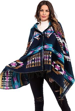 Women Irregular Hippie Boho Ethnic Knitted Tassel Cardigan Sweater Coat Cape