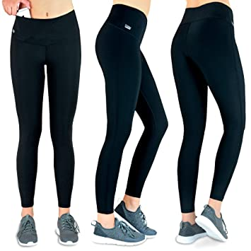 590778328b Formbelt Womens Running Tights Long Integrated Waistpack Pocket for  Smartphone, Key etc. Workout Pants