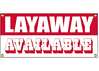 Layaway Banner - Cartel de tienda de venta al por menor (91 ...