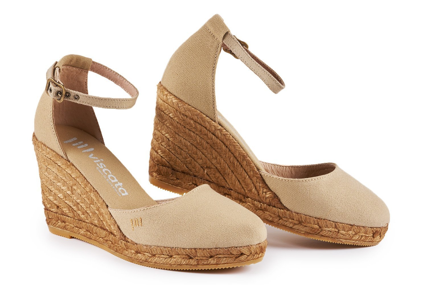 VISCATA in Estartit Elegant Elegant Comfort, Canvas, B07CTJX6L4 Ankle-Strap, Closed Toe, Espadrilles with 3-inch Heel Made in Spain Beige 433e04b - fast-weightloss-diet.space
