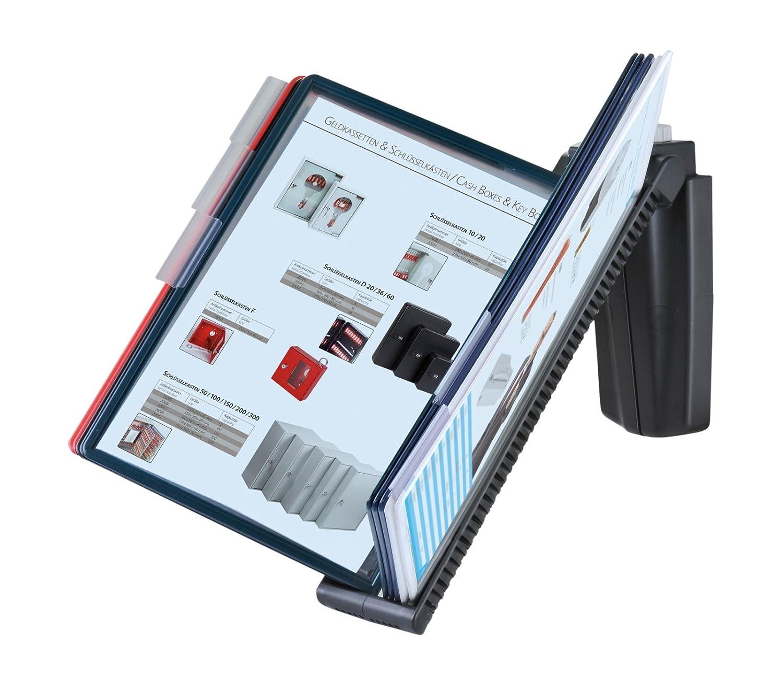 erweiterbar 01124 OfficeForce/® Sichttafel-Tischst/änder mit Klapprahmen