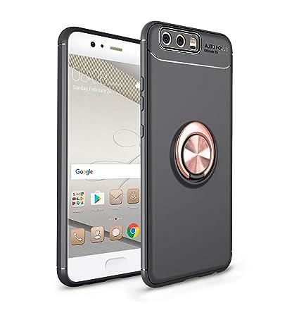Ququcheng Funda Huawei P10,Carcasa Huawei P10 Silicona Cover+Pantalla de Vidrio Templado Absorción de Choque Resistente Caso Skin Carcasa Case para ...