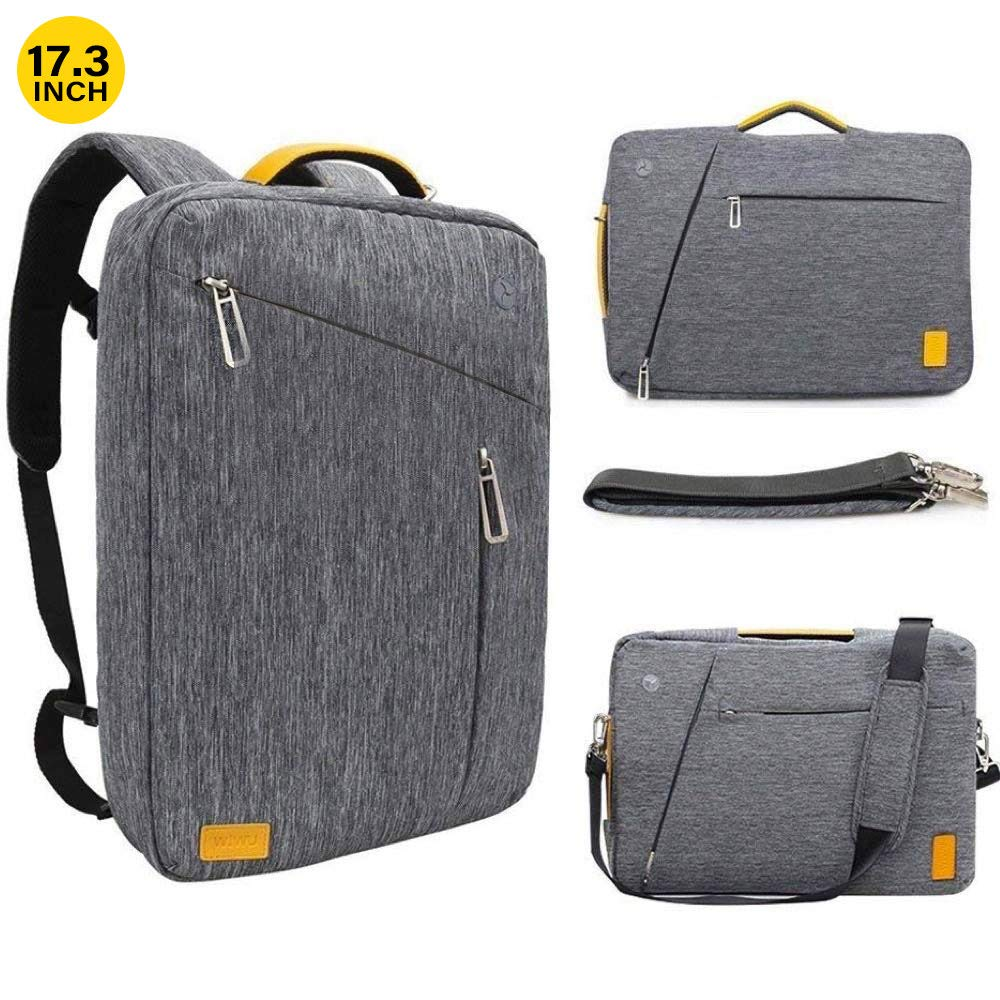 17.3 Inch Convertible Laptop Backpack – WIWU Multi Functional Travel Rucksack Water Resistant Knapsack Work School College Backpacks for Men and Women, Business Backpack fit 17 inch laptops