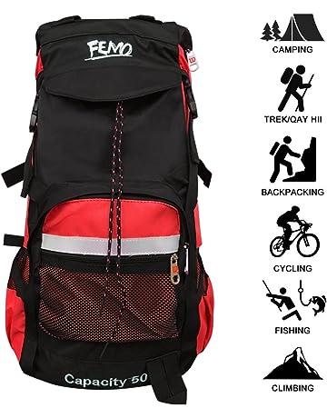 kunpron 60L para hombre mochila de senderismo ligero resistente al agua, negro Casual grande senderismo