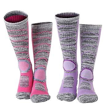 Vordas 2 Pares Calcetines para Mujer de Esquí para Esquiar, IR de Excursión (Tamaño