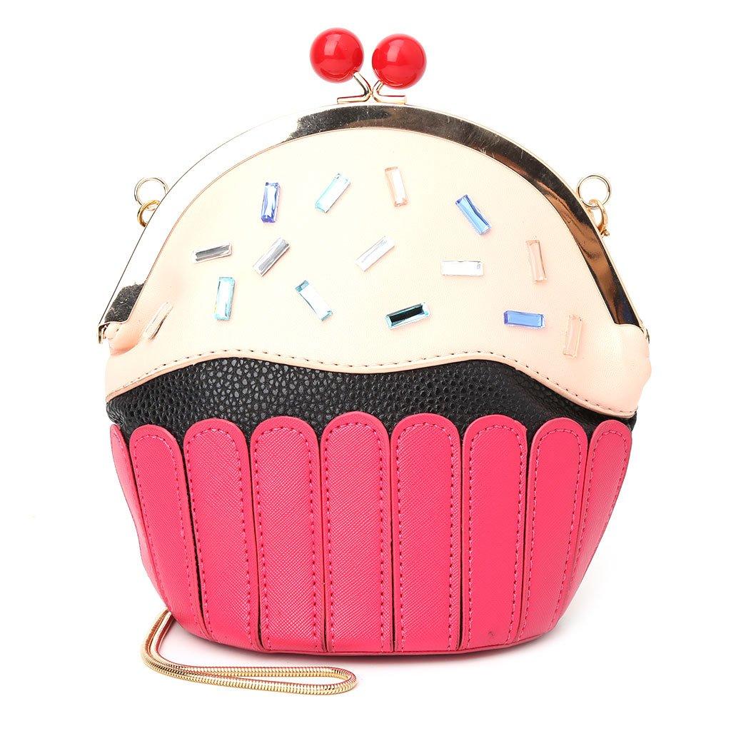 SimpleLife Borsa squisita delle Donne Borsa Piccola della Borsa a Tracolla della Borsa della Borsa a Tracolla Morbida del Cuoio delle Ragazze Cupcake