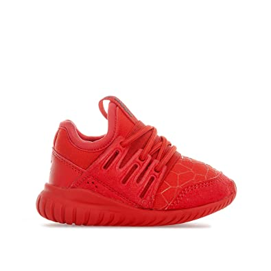 boys red adidas trainers