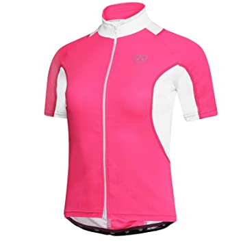 197b6cf8b DHERA Women Cycling Half Sleeve Jersey Biking Top Outdoors Sports MTB Half  sleeve Shirt  Amazon.co.uk  Sports   Outdoors