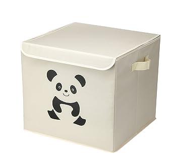 Canvas Collapsible Toy Storage Box Toy Chest Storage Bin Storage Box with Lid for Children Kids  sc 1 st  Amazon.com & Amazon.com: Canvas Collapsible Toy Storage Box Toy Chest Storage Bin ...