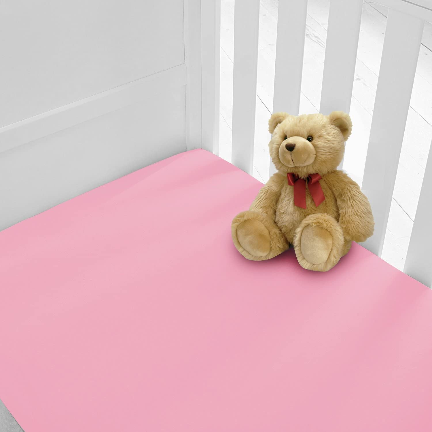 Luxury Percale Cot Bed Fitted Sheets Available in 12 Colours Cotbed, Chocolate Pack of 2 Two