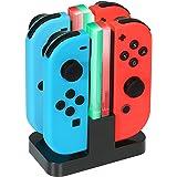 KINGTOP 4-in-1 oplader Nintendo Switch Controller Joy-Con oplaaddock met LED-display