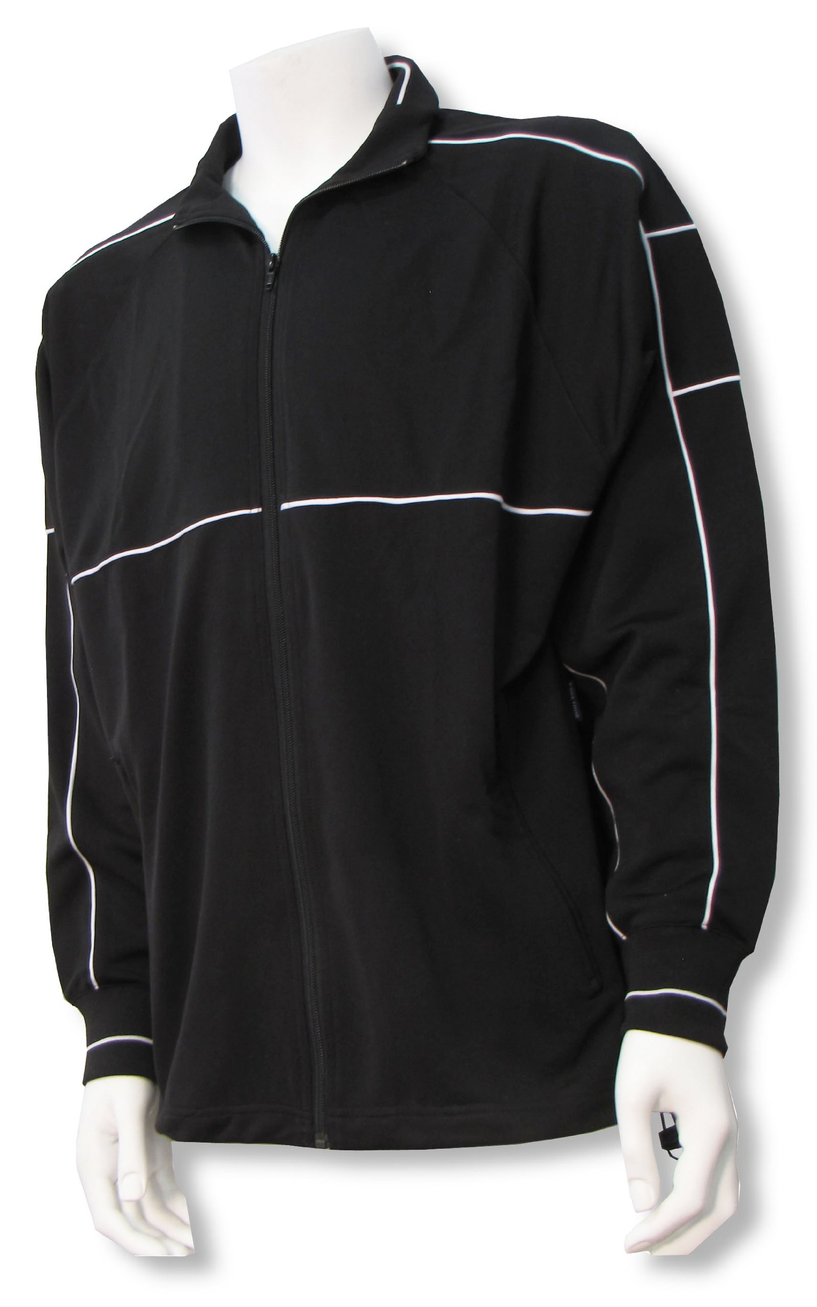 Code Four Athletics Sparta soccer poly-knit warmup jacket - size Youth S - Black/Black by Code Four Athletics