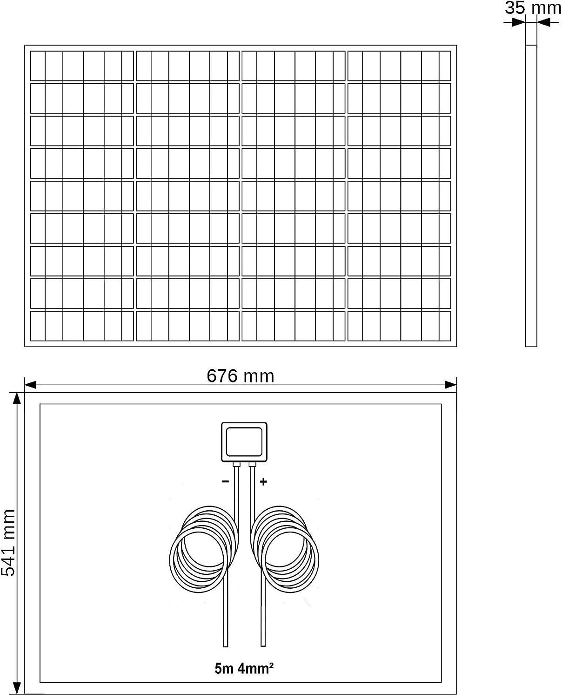 VIASOLAR Kit 50W Camper 12V Panneau Solaire