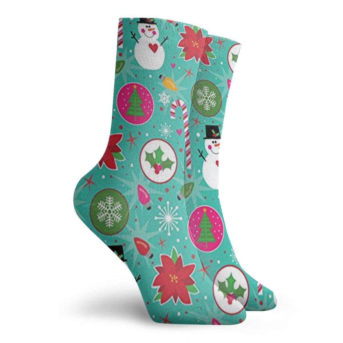 Christmas Snowman Unisex Funny Casual Crew Socks Athletic Socks For Boys Girls Kids Teenagers