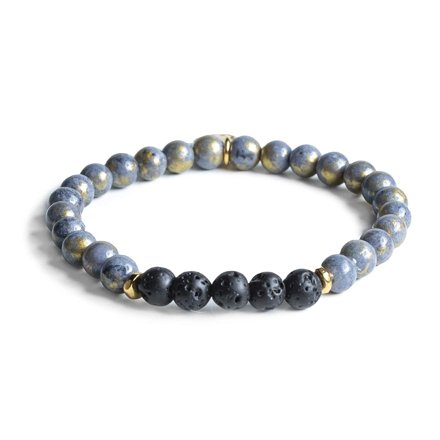 Edens Garden Balboa Bracelet Essential Oil Lava Bracelet or Necklace (Best for Diffusion and Aromatherapy Jewelry)