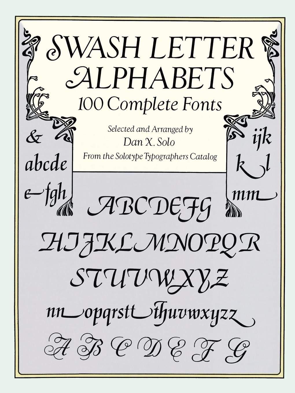 Swash Letter Alphabets 100 Complete Fonts Lettering