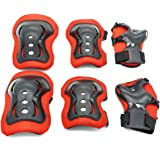 Kids Protective Gear,Knee Pads Elbow Pads Wrist Guards 3 In 1 set For Inline Roller Skating Biking Sports Safe Guard
