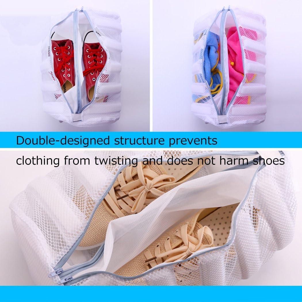 Silver_river Saco Lavadora para Zapatos Blanco Bolsa para Lavar ...