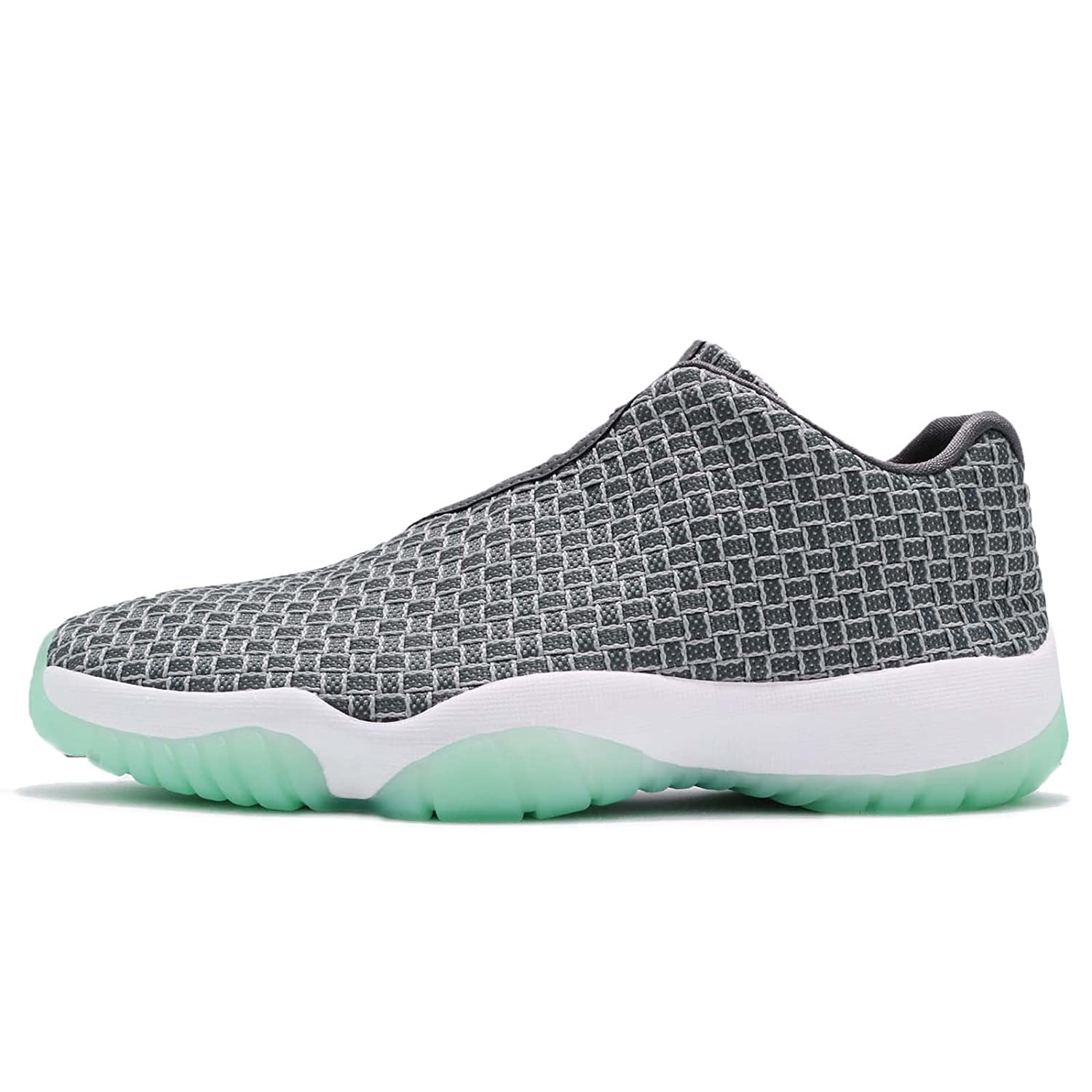 new style ca8ec 51871 Jordan Men's Air Future Low, Wolf Grey/Emerald Rise-Emerald Rise, 10 M US