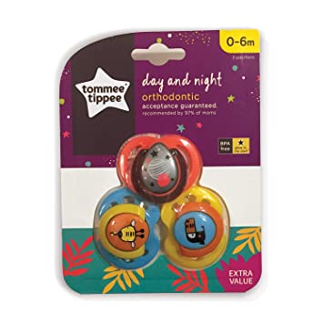 Amazon.com : tommee tippee Orthodontic Pacifier Day Night : Baby