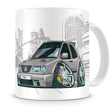 KOOLART kruzroyal caricatura de VW Polo de coche - Taza de café ...