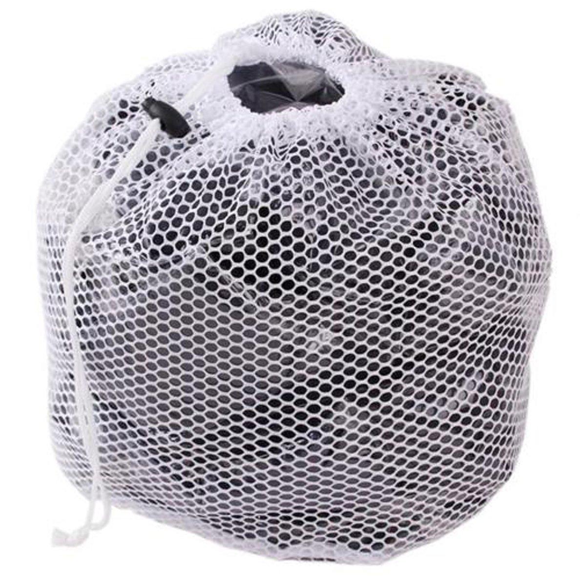 Edtoy White Drawstring Washing Bag for Washing Machine Mesh Net Laundry Bags M