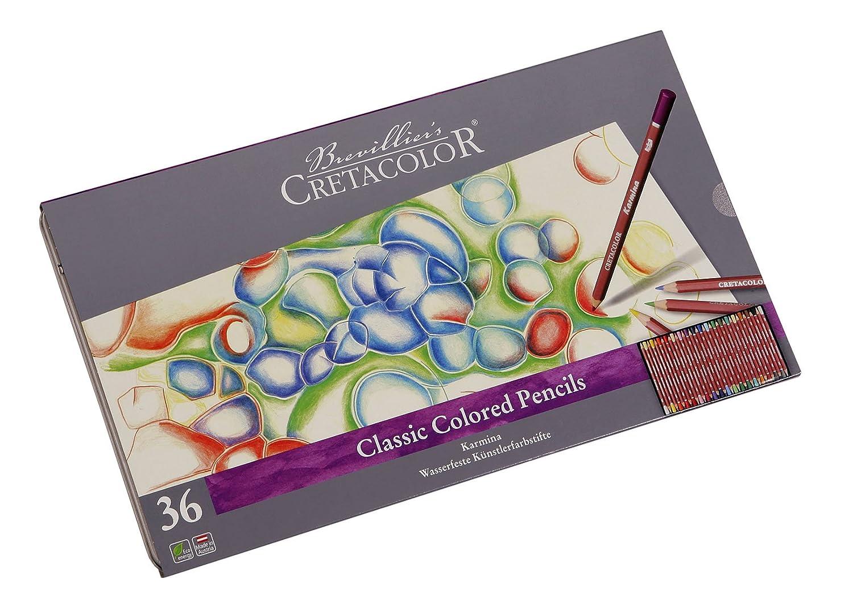 Cretacolore 270 36 – Karmina Farbstifte 36er Set Legno, 3.8 mm
