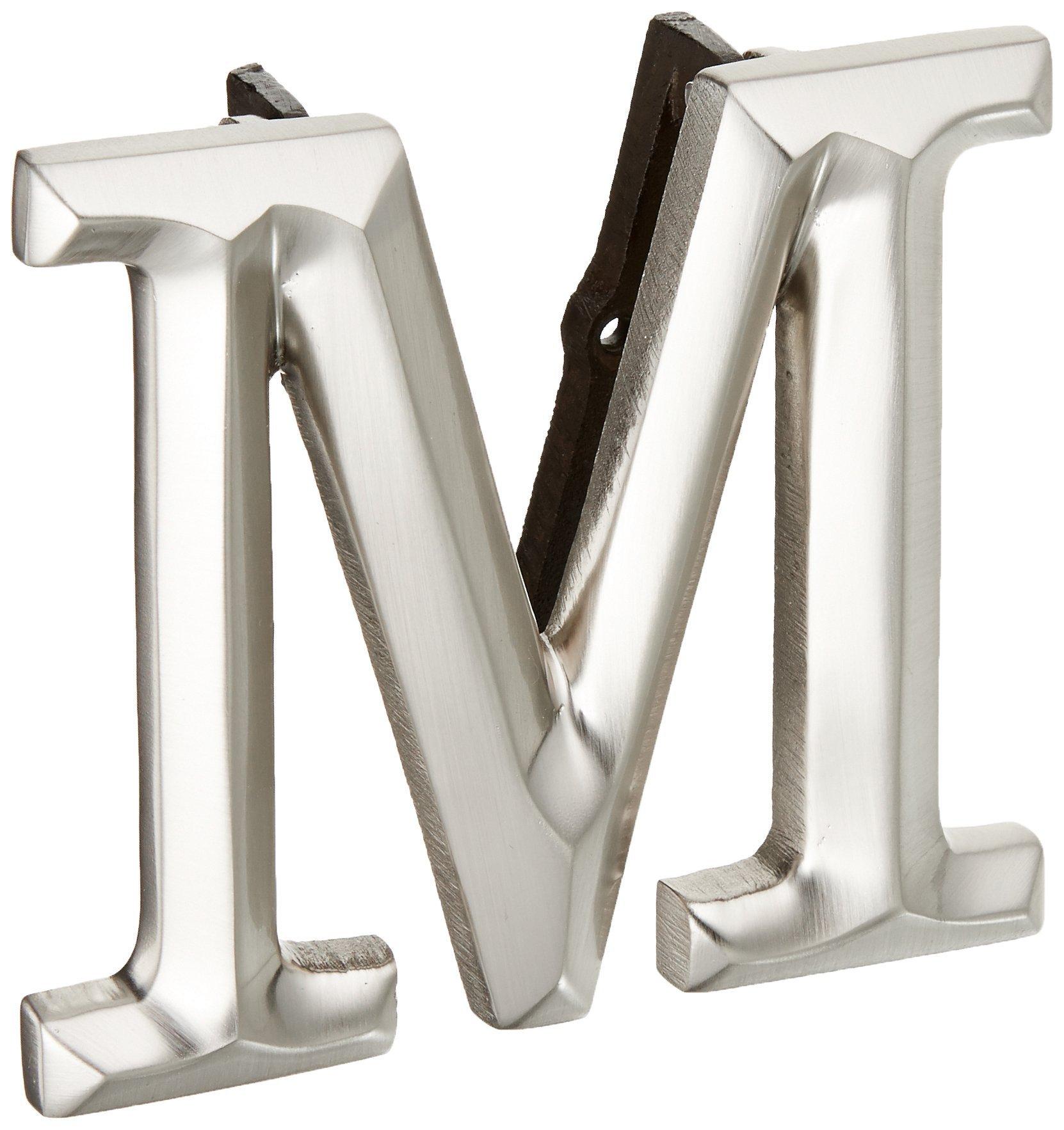 Monogram Letter M Door Knocker - Nickel Silver