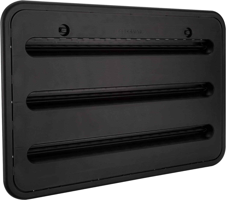 "RV Camper Trailer 24"" Dometic Refrigerator Side Wall Vent | Black 3109350.005"