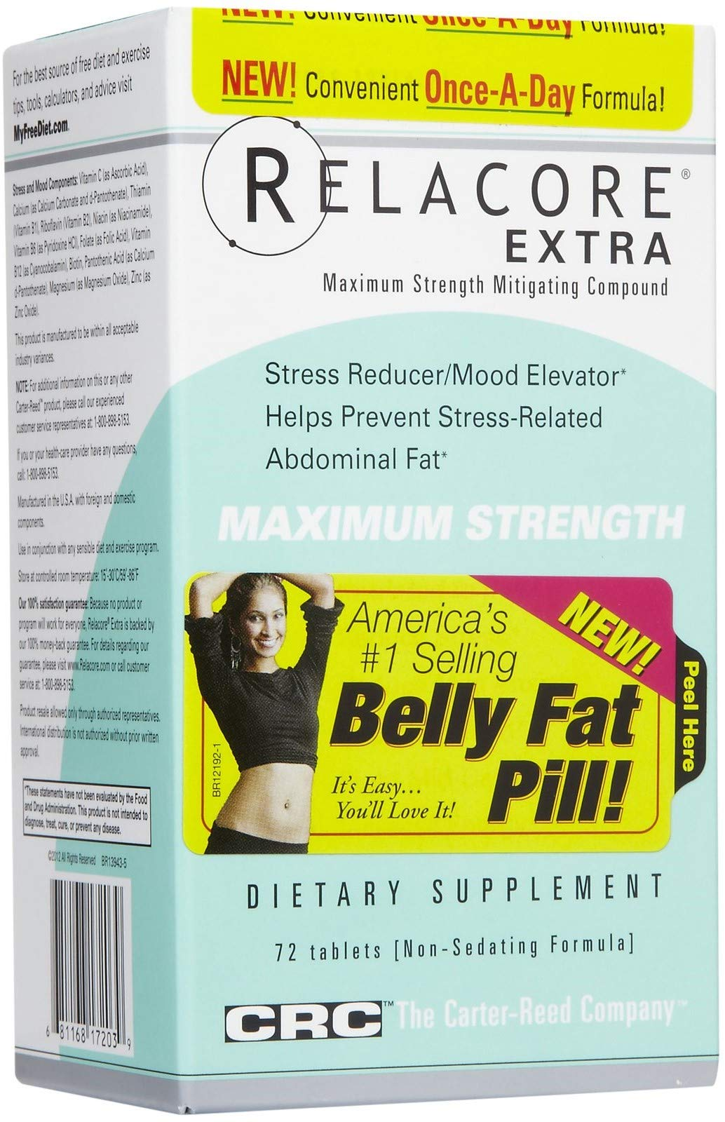 CRC Relacore Extra Maximum Strength Weight Loss, 72 Tablets by Relacore